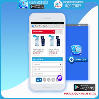 Ứng dụng App Quạt Đại Phúc Androi trên CH Play
