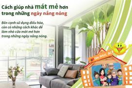 Cách giúp nhà bạn mát mẻ hơn trong những ngày nắng nóng