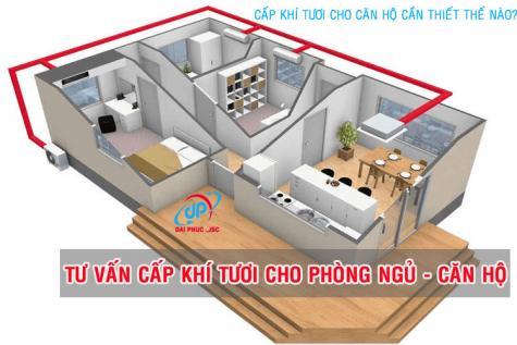 Cấp khí tươi cho phòng ngủ chung cư, căn hộ là điều cần thiết