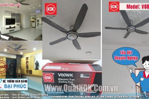 Lắp đặt Quạt trần KDK V60WK tại Quận 3 - Tp.HCM