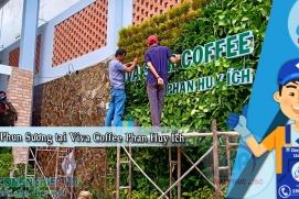 Lắp đặt hệ thống phun sương tại Viva Coffee Phan Huy Ích - Tân Bình