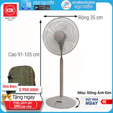 Quạt đứng lửng KDK N30NH - Đồng Ánh Kim