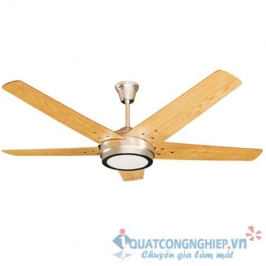 Quạt trần đèn Led cánh gỗ Kim Thuận Phong HL15 LED