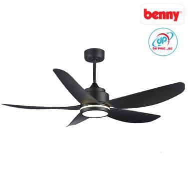 Quạt trần 5 cánh Benny BF-C52LUX Đèn LED - Màu đen