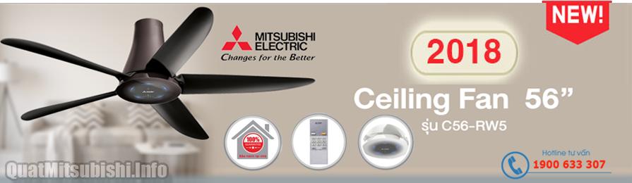Quạt trần Mitsubishi C56-RW5 mới 2018 tại Đại Phúc JSC