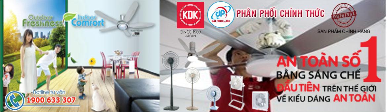 Quạt KDK - Đại Phúc JSC phân phối Quạt KDK giá tốt